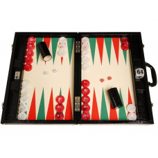 Backgammon Set Proffs XL Wycliffe Brothers in Black