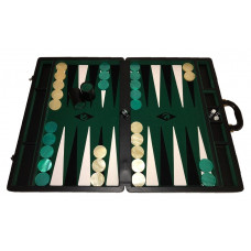 Backgammon set XXL Popular Green 50 mm Stones