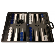 Backgammon set XXL Popular Gray 50 mm Stones