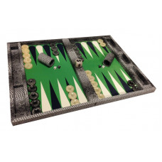 Backgammon Complete Set Mr Stylish Snake in Gray XL