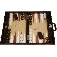 Backgammon Set Proffs XL Wycliffe Brothers in Brown
