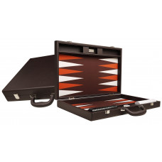 Silverman & Co Premium L Backgammon Board in Dark Brown