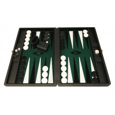 Backgammon set M Popular 36 mm Stones BL-GR-BL-WH