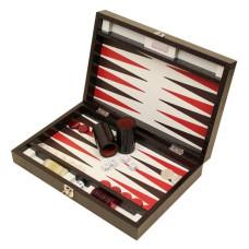 Backgammon Set Proficient M Genuine Leather in Brown