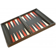 Backgammon Board in Wood & Leather Nikouria L