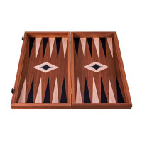 Backgammon komplett set i trä Leros L