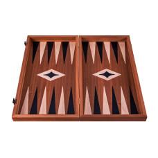 Backgammon komplett set i trä Leros L