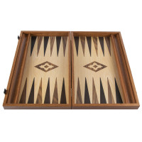Backgammon komplett set i trä Apollon L
