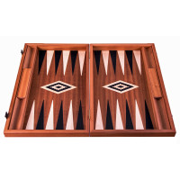 Backgammon komplett set i mahogny Hermes L