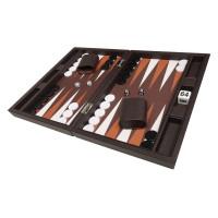 Silverman & Co Smooth  backgammon i mörkbrunt