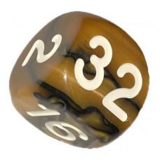 Backgammon dubblerings-kub brunett hantverk 36 mm