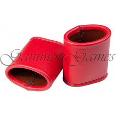 Backgammon Leather Dice Cups Oval in Red