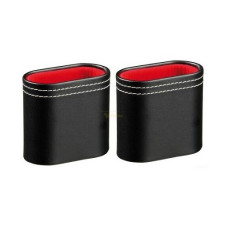 Oval Dice Cups Budget Vinyl  in Black