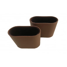 Oval Dice Cups Plastic  in Brown
