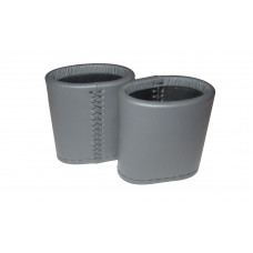 Backgammon Leather Dice Cups Oval in Gray