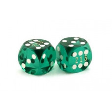 Backgammon Precision Dice Numbered in Green 13 mm 9d6889a53315a