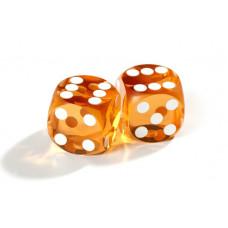 Officiella precisionstärningar backgammon 14 mm i gult