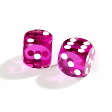 Officiella precisionstärningar backgammon 14 mm i lila