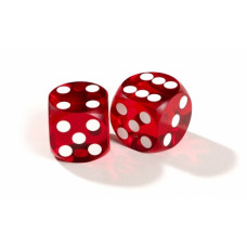 Official Precision Dice for Backgammon 13 mm Red