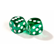 Official Precision Dice for Backgammon 13 mm Green