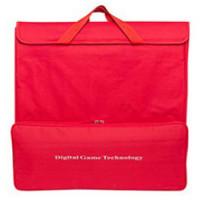 Förvarings-bärväska i rött för schackset och klocka