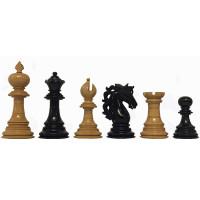 Schackpjäser American Adios i Ebenholts och buxbom 112 mm