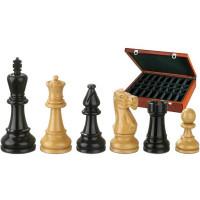 Schackpjäser handsnidade i buxbom 95 mm BN-Nero-Matte