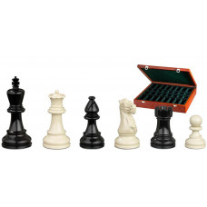 Wooden Chess Pieces Hand-carved Nero KH 95 mm