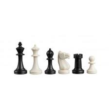 Schackpjäser i plast, Nerva i svart och vitt KH 76 mm