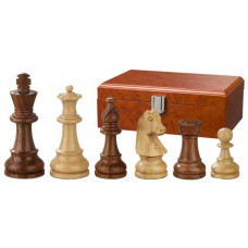 Wooden Chess Pieces Hand-carved Sigismund KH 95 mm