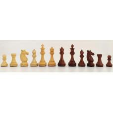 Schackpjäser handsnidade i trä Staunton Olimpico 85 mm