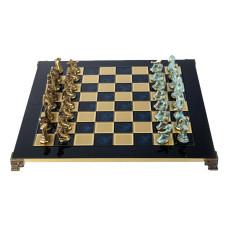 Schack set Spartans i mässing och brons