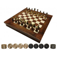 Chess & Draughts Not Foldable ML Elegant