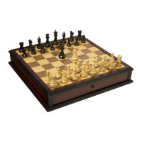 The Classic Series Library Chess and Checkers Set L