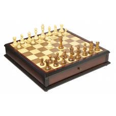 The Reykjavik Series Library Chess and Checkers Set L
