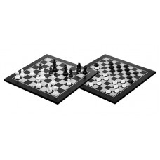 Draughts 10x10 & Chess 8x8 Two In One Combo Stylish