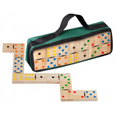 Domino set Dubbel 6 i furu - Carrying Bag