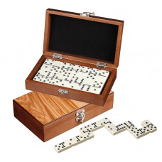 Domino set Dubbel 6 i akryl - Deluxe