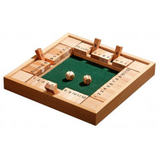 Canoga Quadruple Game Made of Beech